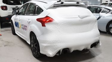 Winter testing in Arjeplog - Focus RS snow rear