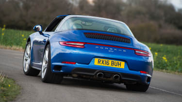 Porsche 911 Targa 2016 UK - rear cornering