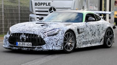 Mercedes AMG GT R Black Series - front 3/4 tracking spy