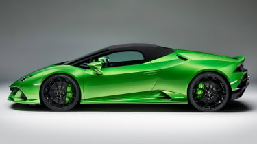 Lamborghini Huracan Evo Spyder - side roof up