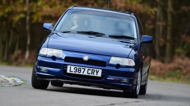 A more refined approach from Vauxhall, the Astra GSi was too overweight to compete with the best in class, but offered great safety kit and, crucially, much lower insurance premiums.
