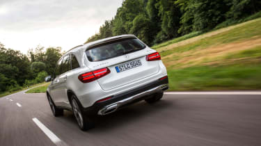 Mercedes GLC 350e - rear tracking