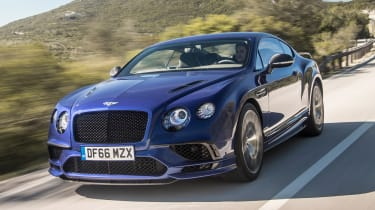 Bentley Continental Supersports 2017 - Moroccan Blue front tracking 2