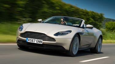 Aston Martin DB11 Volante - front tracking