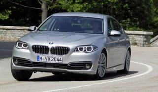 BMW 530d cornering action