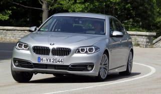 BMW 530d cornering action