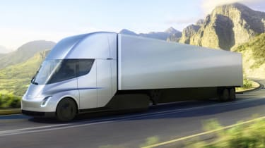 Tesla lorry - electric truck revealed - road