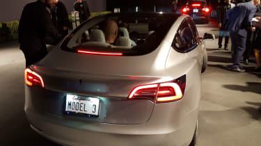 Tesla Model 3 ride rear
