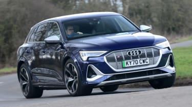 Audi e-tron S - front cornering