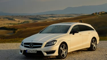 Mercedes CLS 63 AMG Shooting Brake front three-quarters