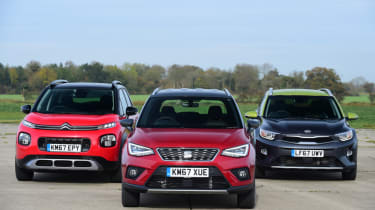 SEAT Arona vs Citroen C3 Aircross vs Kia Stonic - group test