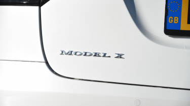 Tesla Model X - Model X badge