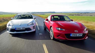 Mazda MX-5 RF vs Toyota GT86 - head-to-head