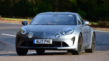 Alpine A110 S - front cornering