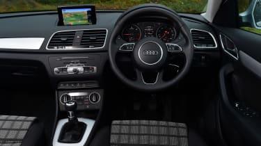 Audi Q3 group test - dashboard