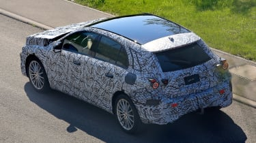 Mercedes A-Class spy shot - rear action