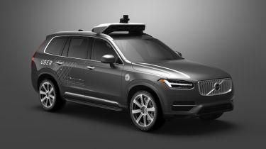 Volvo Uber autonomous car - front side