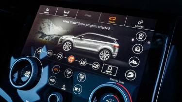 Range Rover Evoque prototype - infotainment