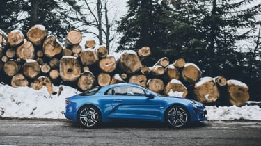 Alpine A110 sports car 2017 - side