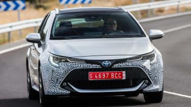 Toyota Corolla Touring Sports prototype - front cornering