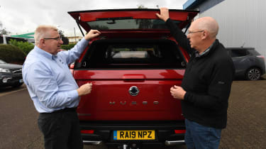 SsangYong Musso long term review - rear dealership