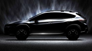 New Subaru XV teaser side on