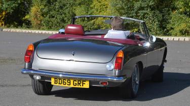 Electric MGB - rear cornering