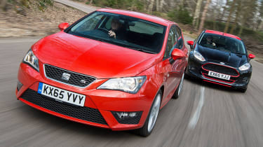 SEAT Ibiza SC FR vs Ford Fiesta Zetec S Black Edition - header
