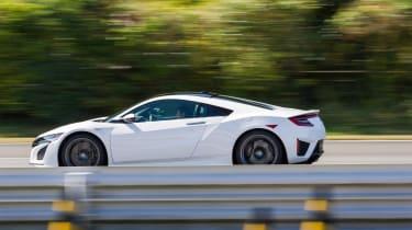 New Honda NSX 2015 white action