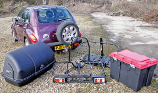 Towbar mounted storage systems on test