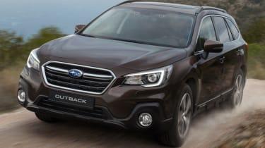 New Subaru Outback front quarter