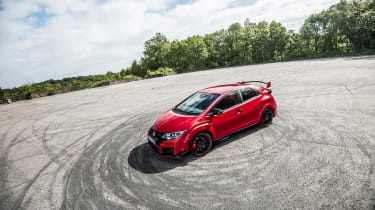 New Honda Civic Type R 2015 dramatic shot