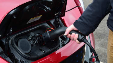 Nissan Leaf - plugged in