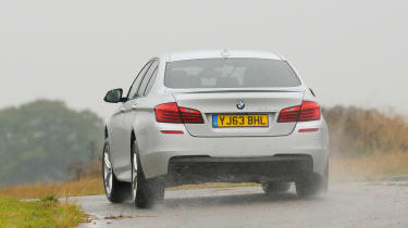 BMW 5 Series saloon 2013 rear action