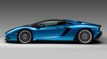 Lamborghini Aventador S Roadster - side - roof up