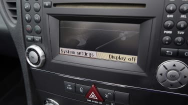 Used Mercedes SLK - centre console