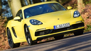 New Porsche Cayman GTS review - front action