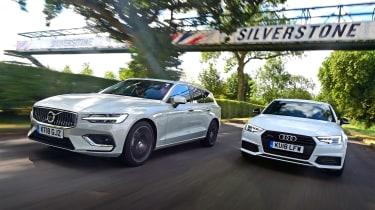 Volvo V60 vs Audi A4 Avant - header