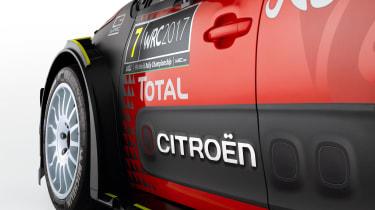 Citroen C3 WRC 2017 white background front wheel