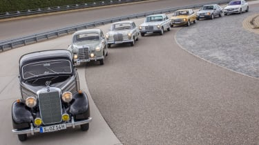 70 years of Mercedes E-Class - group