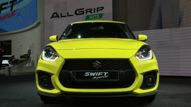 New 2018 Suzuki Swift Sport nose