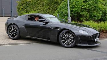 Aston Martin V8 Vantage spy shot - side