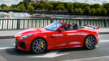 Jaguar F-Type SVR Convertible - side action