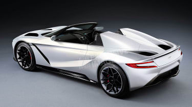 Aston Martin's Tesla Roadster rival - rear (watermarked)