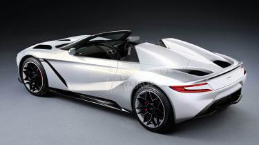 Aston Martin's Tesla Roadster rival - rear (watermarked)