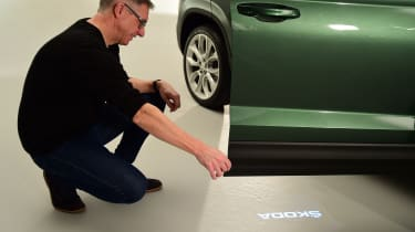 Skoda Karoq meets its customers - door