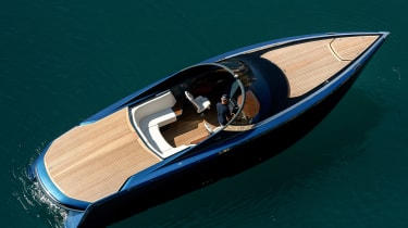 Aston Martin AM37S boat - above static