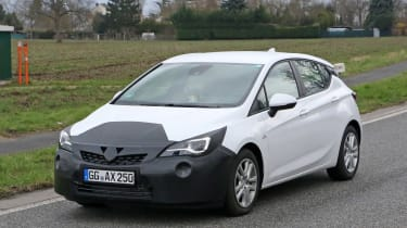 2019 Vauxhall Astra spyshot - front