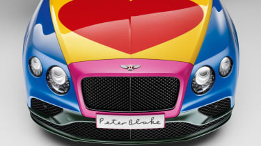 Bentley Peter Blake Art Car - bonnet