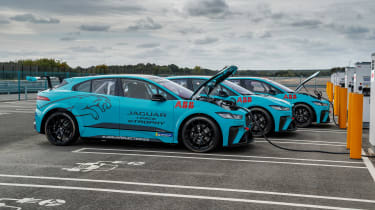 Jaguar I-Pace eTrophy - charging